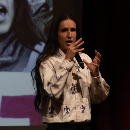 Earth Guardians founder Xiuhtexcatl Martinez was the final speaker on the Learning Green event.