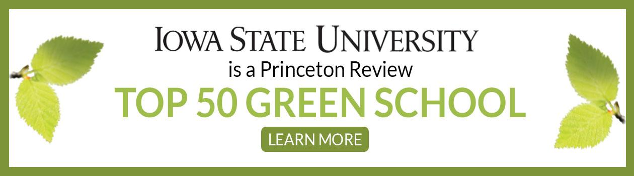2019 ISU Named Top 50 Green Colleges by The Princeton Review